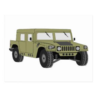 Green Military Humvee Postcard
