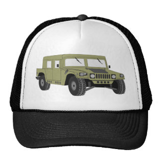 Green Military Humvee Trucker Hat