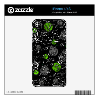 Green mind skin for iPhone 4