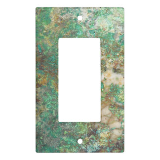 Green Mineral Stone Image Light Switch Cover