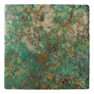 Green Mineral Stone Image Trivet