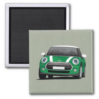 Green MINI Cooper 2 Inch Square Magnet