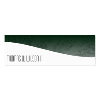 Green Minimalist Professional Slim Business Cards