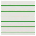[ Thumbnail: Green & Mint Cream Colored Lines Fabric ]