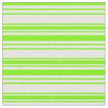[ Thumbnail: Green & Mint Cream Colored Pattern Fabric ]