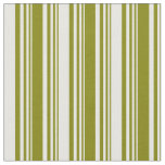 [ Thumbnail: Green & Mint Cream Colored Pattern of Stripes Fabric ]