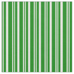 [ Thumbnail: Green & Mint Cream Colored Striped Pattern Fabric ]