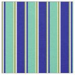 [ Thumbnail: Green, Mint Cream, Dark Blue, Aquamarine, and Tan Fabric ]