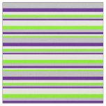 [ Thumbnail: Green, Mint Cream, Indigo & Grey Colored Pattern Fabric ]