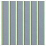 [ Thumbnail: Green, Mint Cream, Olive Green & Light Slate Gray Fabric ]
