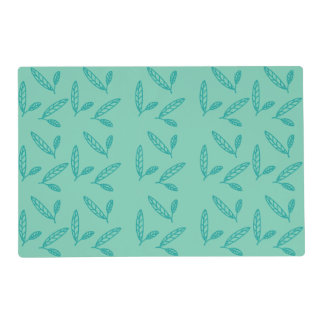 Green mint leaf placemat