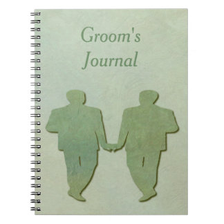 Green Mint Rustic Gay Groom's Journal and Planner
