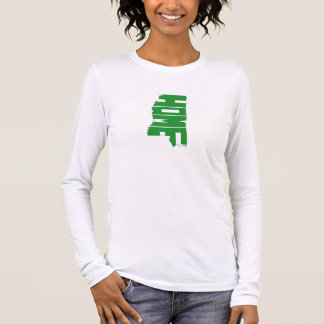 Green Mississipi Home State Women's Long Sleeve T-Shirt