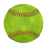 [ Thumbnail: Green Mist/Haze/Fog-Like Pattern Baseball ]