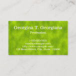 [ Thumbnail: Green Mist/Haze/Fog-Like Pattern Business Card ]