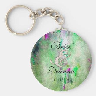 Green Mist  Wedding Favor Keychain