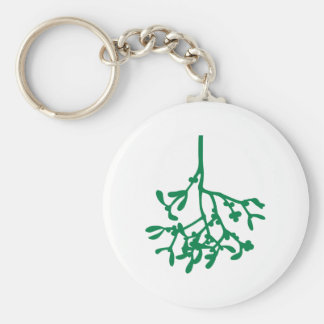 Green Mistletoe Keychain
