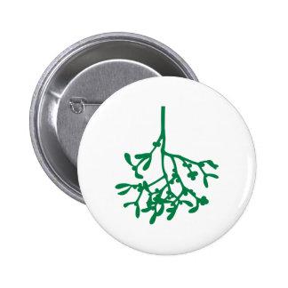 Green Mistletoe Pin