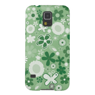 Green Mixed Flowers Case For Galaxy S5