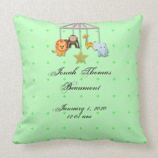 Green Mobile Baby Keepsake Pillow
