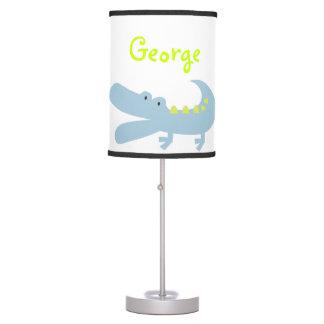 Green Mod Alligator Lamp