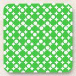 Green Mod Ball Design @ Emporio Moffa Beverage Coasters
