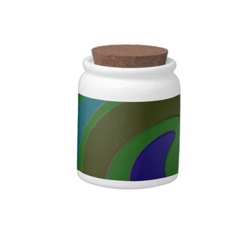 Green Mod Colors Candy Jar