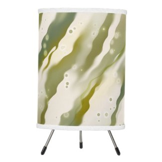 Green Modern Abstract Art Wave Pattern Lamp