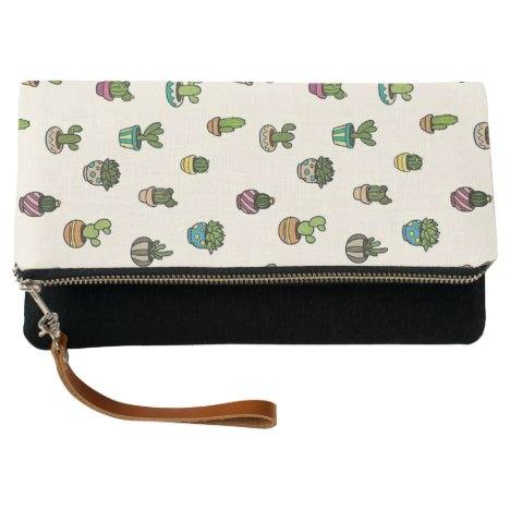 Green modern alovera clutch