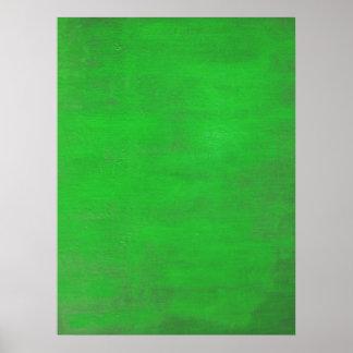 Green Modern Art Poster