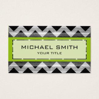 Green Modern Chevron Pattern Business Card