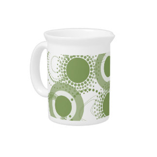 Green Modern Drink Pitcher