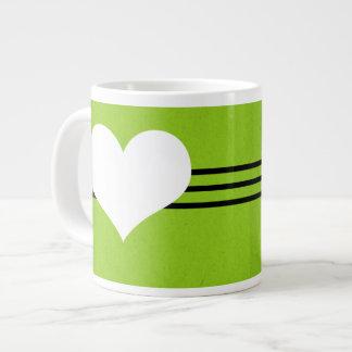 Green Modern Heart Jumbo Mug