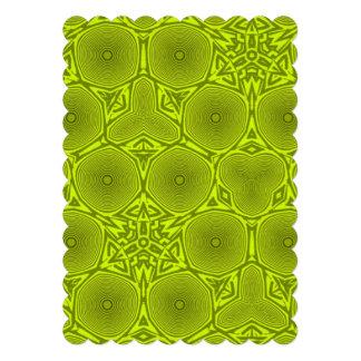 Green modern pattern announcement