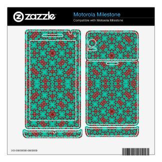 Green modern pattern motorola milestone decals