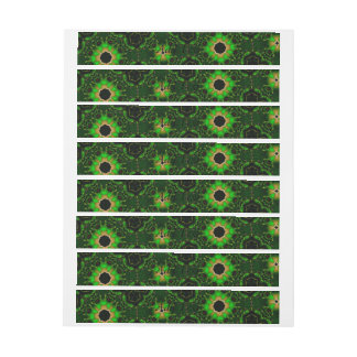 green modern random pattern wraparound address label