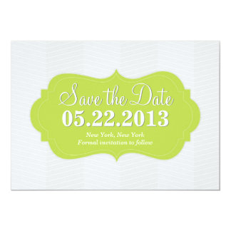 Green Modern Save the Date Announcement