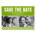Green Modern Wedding Save the Date Personalized Announcement