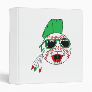 Green mohawk baseball binder