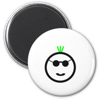 Green Mohawk Refrigerator Magnet