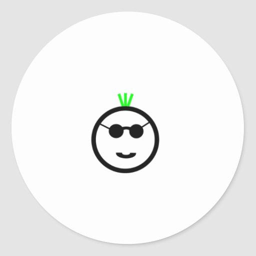 Green Mohawk Round Sticker