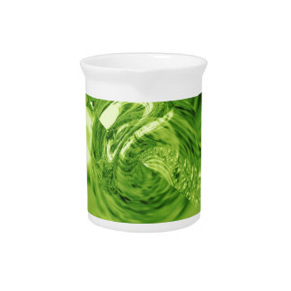 Green molten glass planet drink pitcher