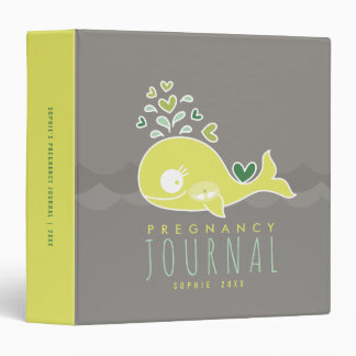 Green Mommy Whale Twins Pregnancy Journal Binder