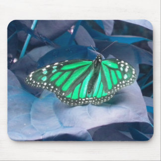 Green Monarch Butterfly mouse pad