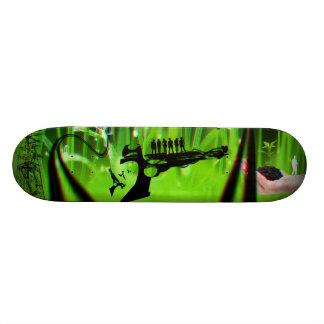 green money 3D anaglyph Skateboard
