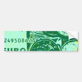 Green money bumper sticker
