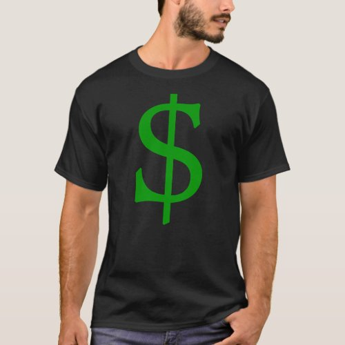Green Money Cash Dollar Sign T_Shirt
