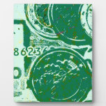 Green money display plaque