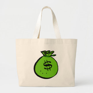 Green moneybag large tote bag
