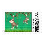 Green Monkey Fun Stamp